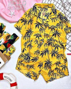 đồ bộ cây dừa vàng đi biển