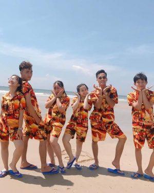 đồ bộ cây dừa hawaii đi biển
