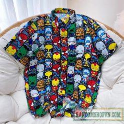 áo sơ mi marvel siêu cute